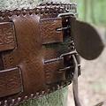 Epic Armoury Cinturón nudos celtas, marrón.