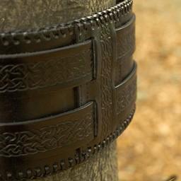 Tailleriem Keltische knopen, zwart