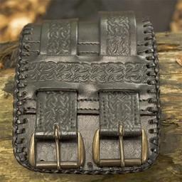 Cinturón nudos celtas, negro