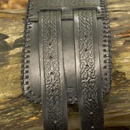 Pas biodrowy Celtyckie węzły, czarny