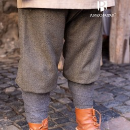 Viking trousers herringbone motif Ivar, olive-grey