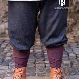 Spodnie Viking motyw jodełkowy Ivar, czarno-szary