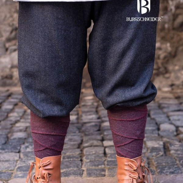 Burgschneider Pantalon Viking à motif à chevrons Ivar, gris noir