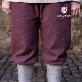 Burgschneider Pantalone vichingo motivo a spina di pesce Tilda, bordeaux-grigio