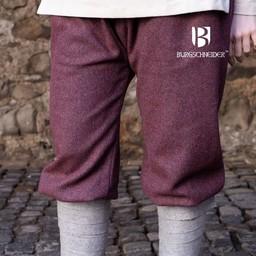 Viking trousers herringbone motif Tilda, burgundy-grey
