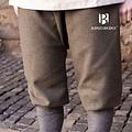 Burgschneider Pantalón vikingo con motivo en espiga Tilda, gris oliva