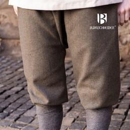 Viking spodnie w jodełkę motyw Tilda, oliwkowo-szary