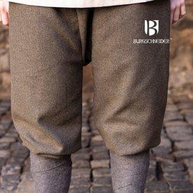 Burgschneider Viking spodnie w jodełkę motyw Tilda, oliwkowo-szary