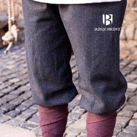 Burgschneider Spodnie Viking motyw w jodełkę Tilda, czarno-szary