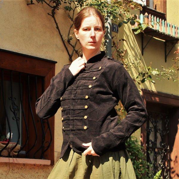 Veste militaire Emily, XL noir, offre spéciale!
