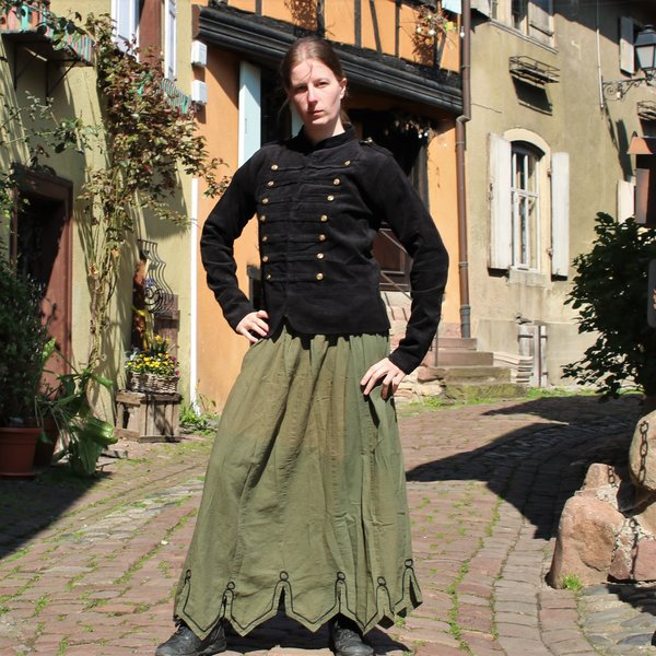 Militaire jas Emily, XL zwart, speciale aanbieding!