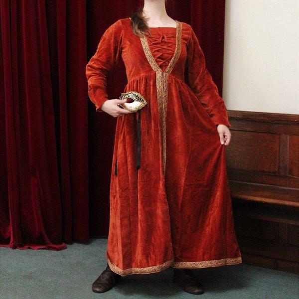 Leonardo Carbone Kjole Borgia rød