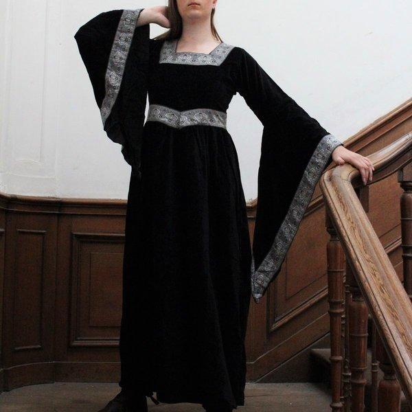 Klänning Anne Boleyn svart