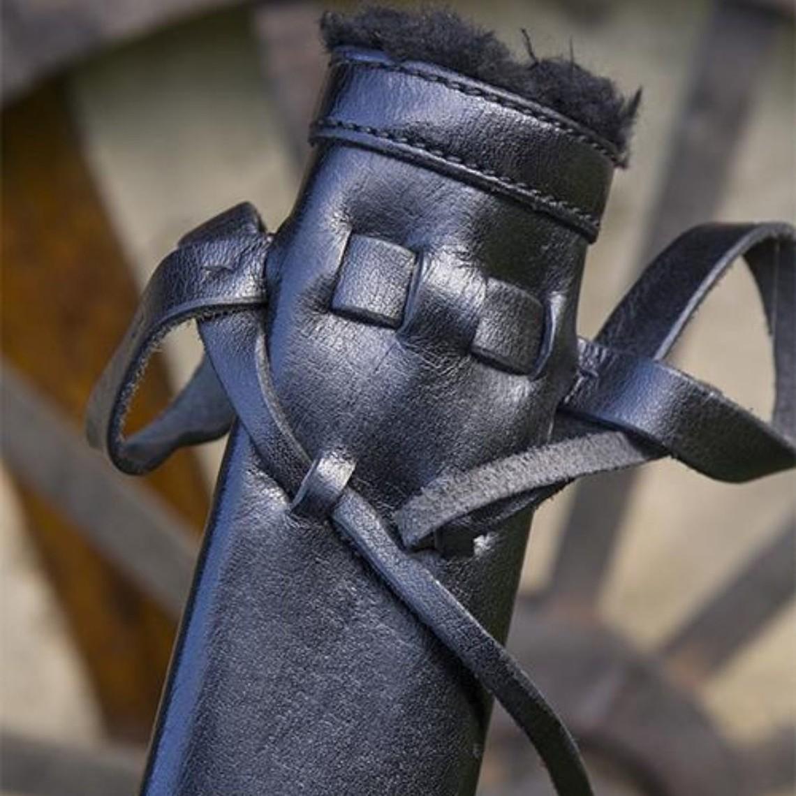 Epic Armoury LARP Dolkschede, klein, rechtshandig, zwart