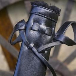 LARP dagger scabbard, small, right-hand, black