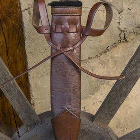 Epic Armoury Fourreau de poignard LARP, petit, droitier, brun