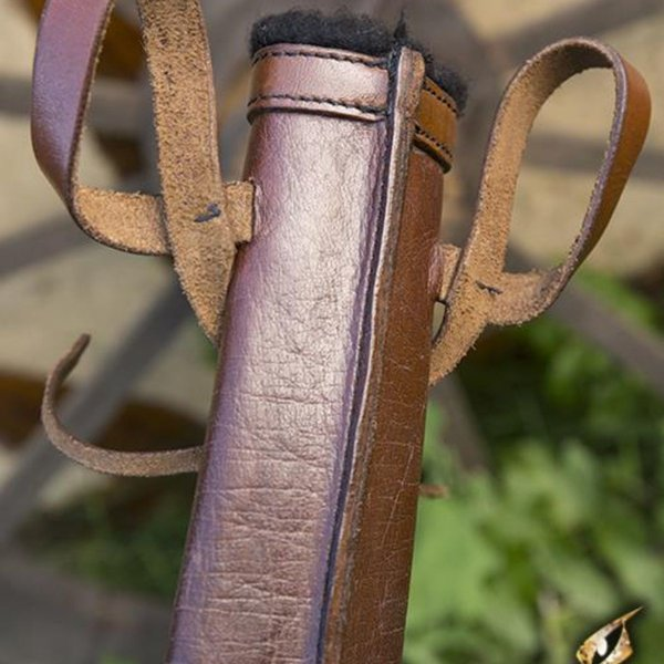 Epic Armoury LARP dolkskål, liten, högra, brun