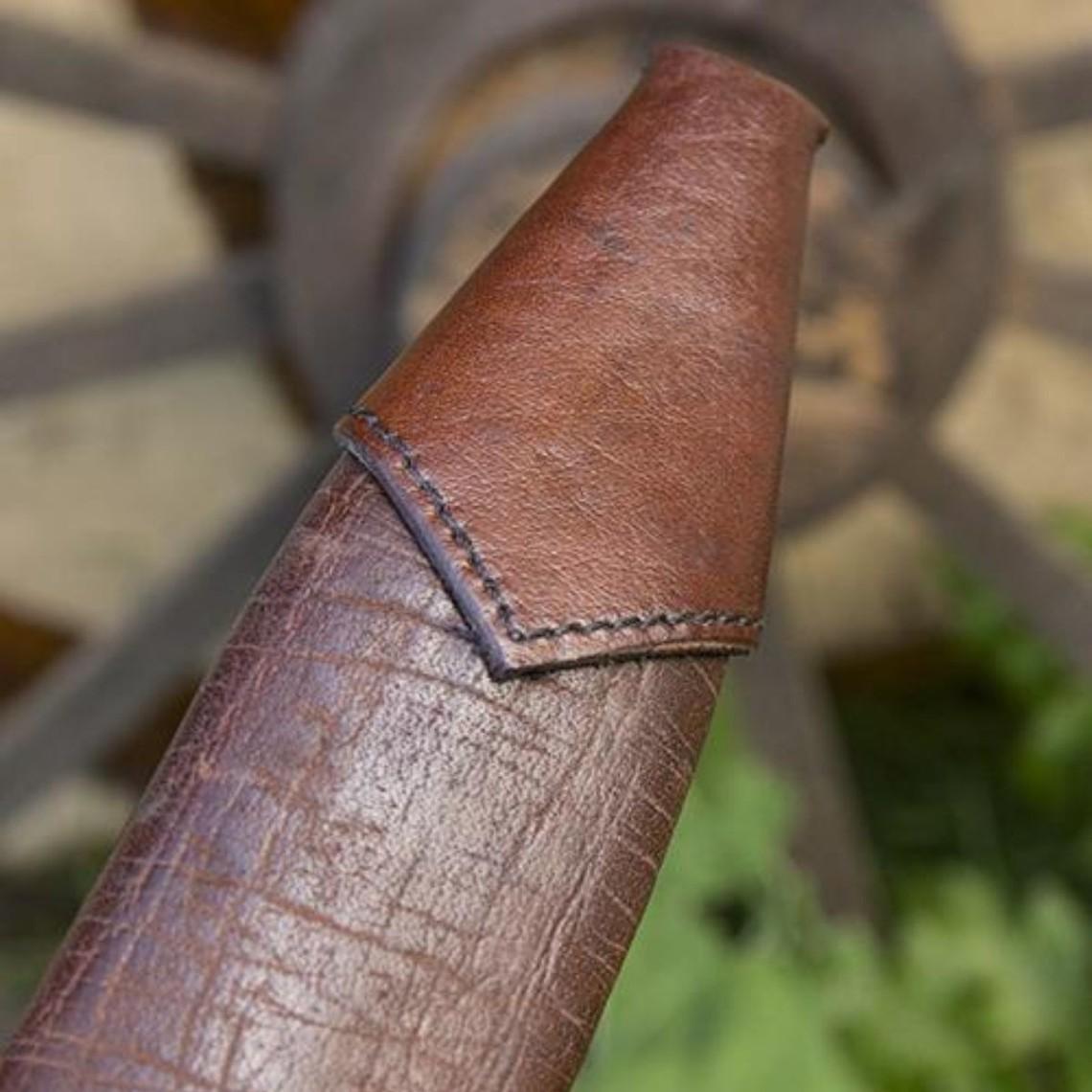 Epic Armoury Vaina de daga LARP, pequeña, derecha, marrón