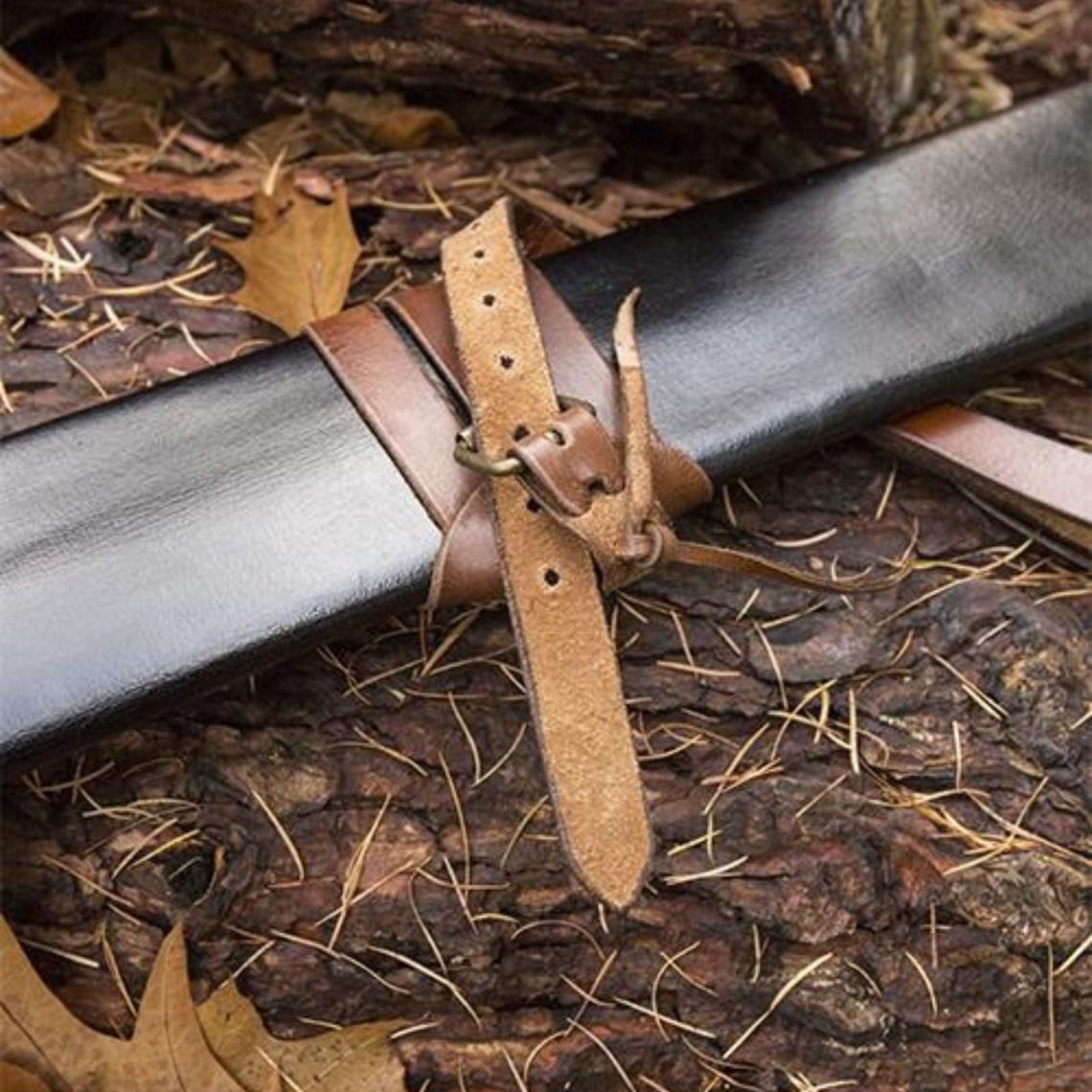 Epic Armoury Fodero della spada LARP, M, destrimano, nero