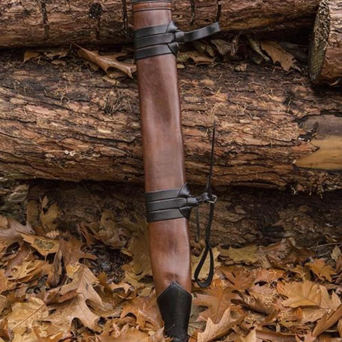 Epic Armoury LARP zwaardschede, M, rechts, bruin