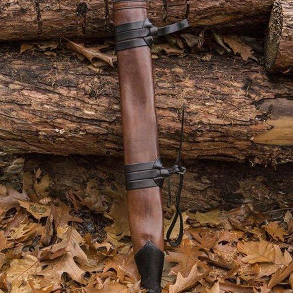 Epic Armoury LARP sword scabbard, M, højrehåndet, brun
