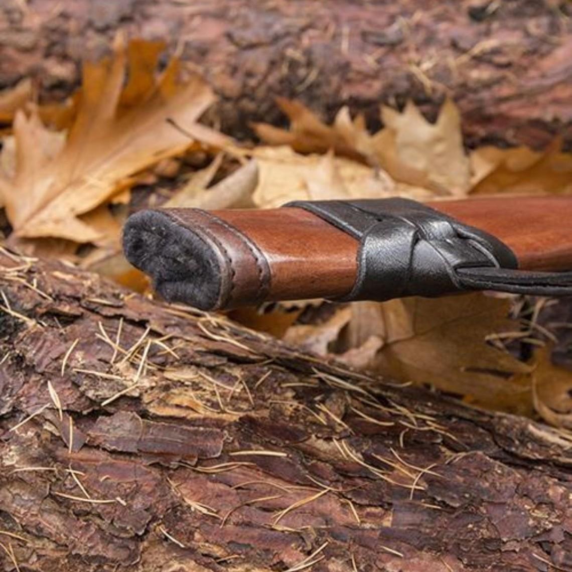 Epic Armoury LARP zwaardschede, L, rechts, bruin