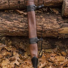 Epic Armoury Vaina de espada LARP, L, diestro, marrón