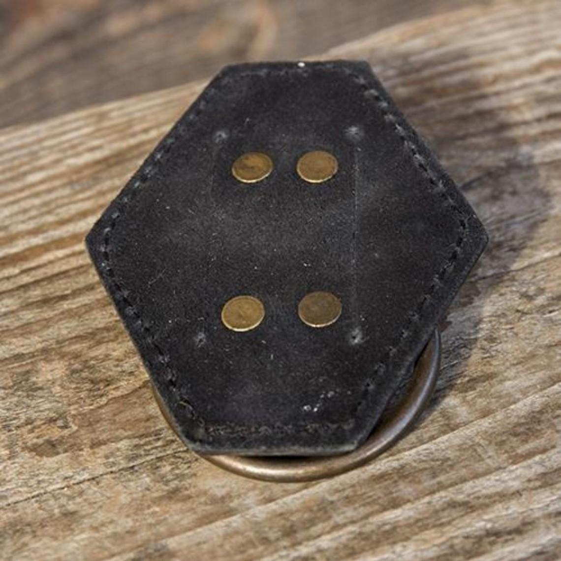 Epic Armoury LARP Schwerthalter mit Ring, schwarz
