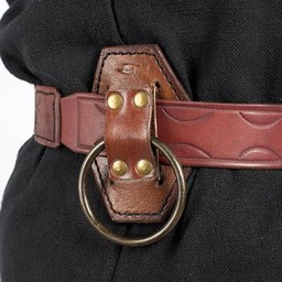 LARP sword holder with ring, brown