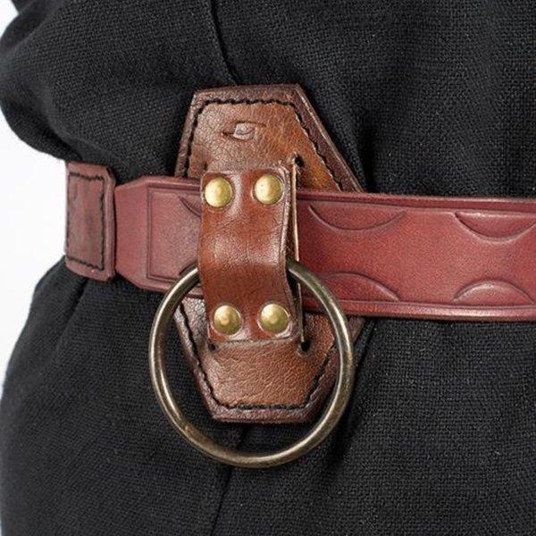 Epic Armoury LARP zwaardhouder met ring, bruin
