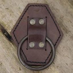 Uchwyt na miecz LARP z pierścieniem, brązowy