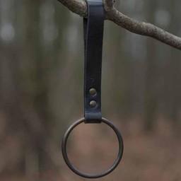 LARP ring holder for belt, black