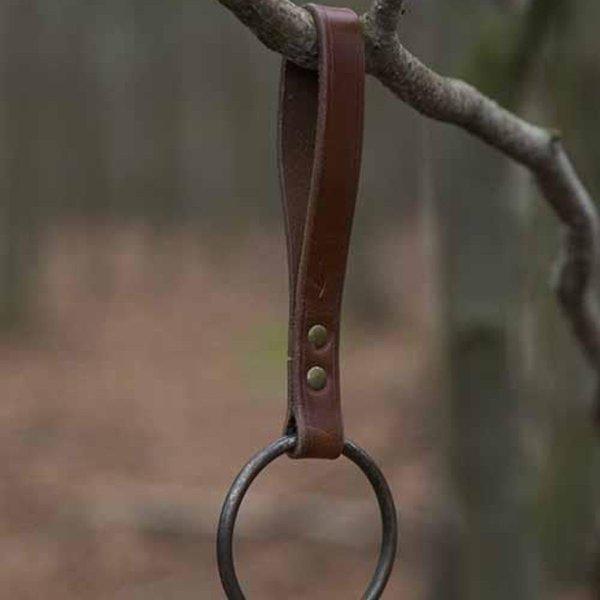 Epic Armoury Uchwyt pierścieniowy LARP na pasek, brązowy