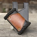 Epic Armoury Porta espada LARP con pelaje, negro-marrón