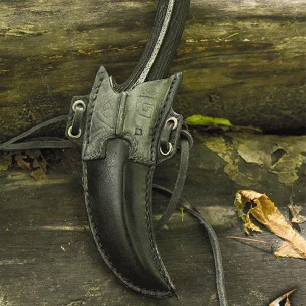 Epic Armoury Holder for LARP dark elven throwing knives incl. knife
