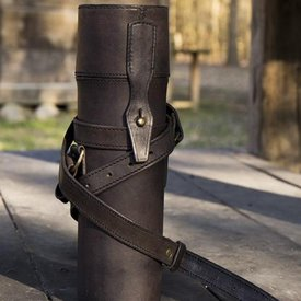 Epic Armoury Termokolv med läderhållare och bälte, svart