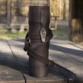 Epic Armoury Soporte de cuero para pergamino o botella, negro