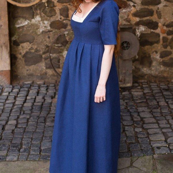 Burgschneider Średniowieczny strój Frideswinde niebieski