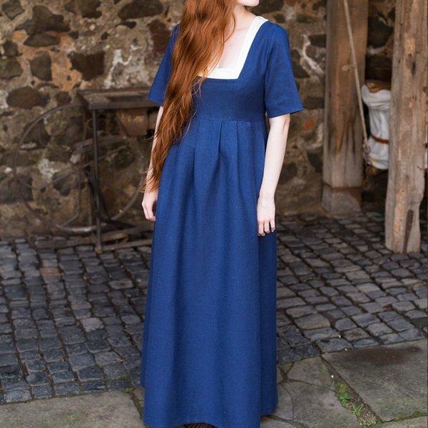 Burgschneider Vestido medieval Frideswinde azul