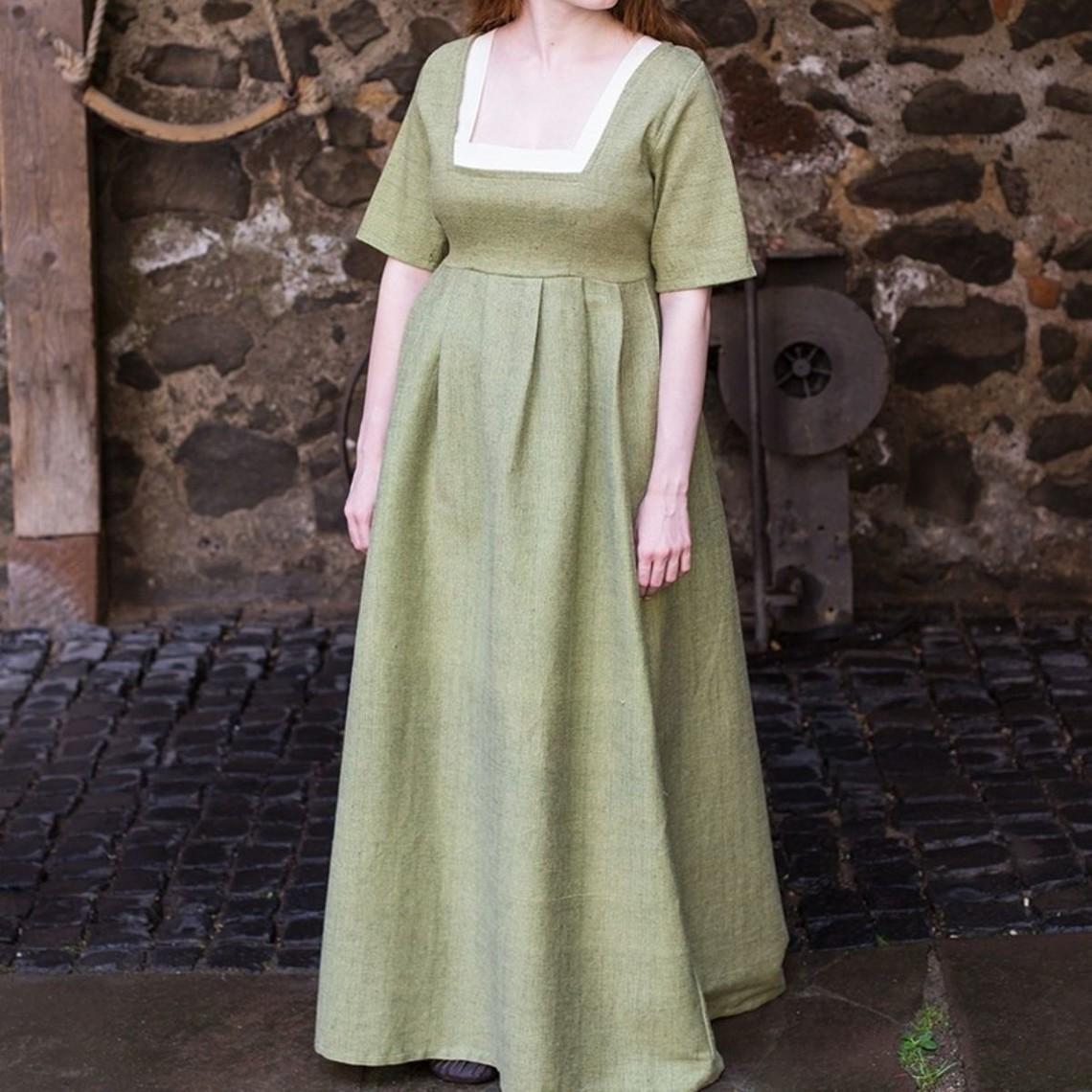 Burgschneider Średniowieczny strój Frideswinde zielony