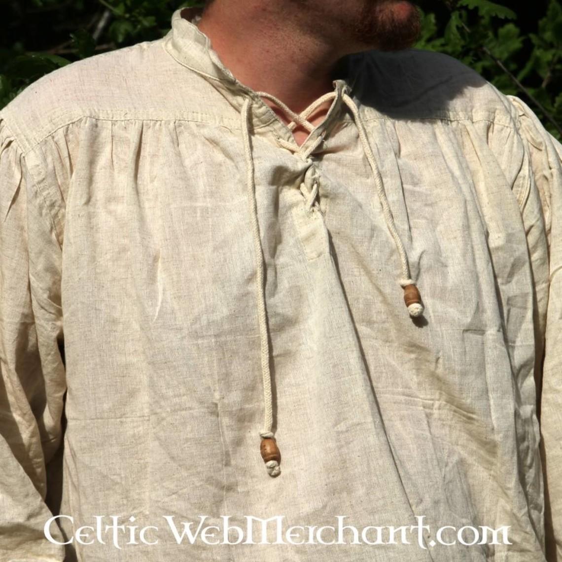 Leonardo Carbone Camisa medieval, crema
