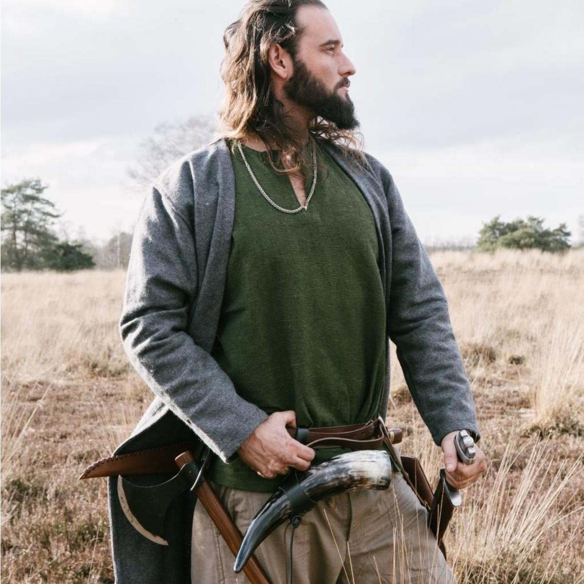 Leonardo Carbone Túnica vikingo Hans, verde