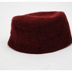 siglo 15 sombrero de fieltro Durero, rojo