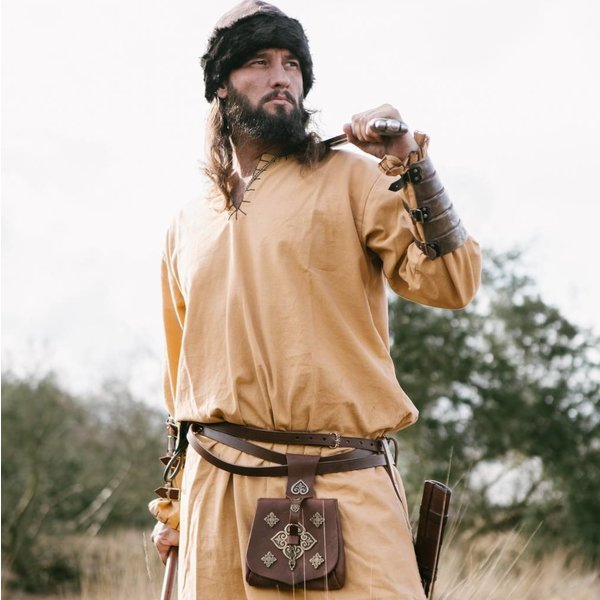 Leonardo Carbone Sombrero Birka Viking, Marrón