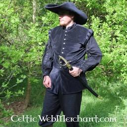 17th århundrade hatt Randell, svart