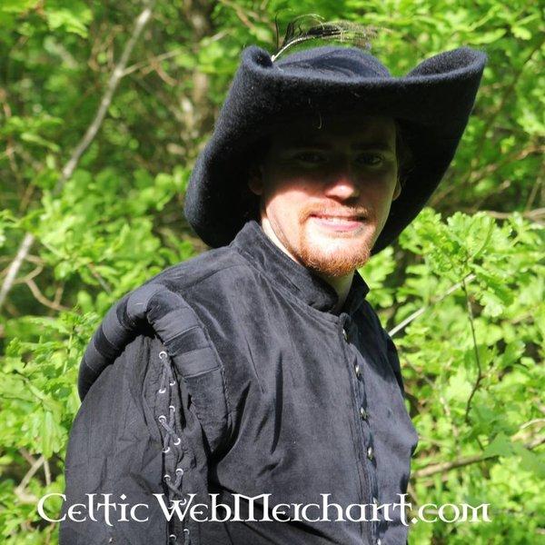 17de eeuwse hoed Randell, zwart