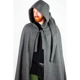 Capa medieval con capucha, verde.