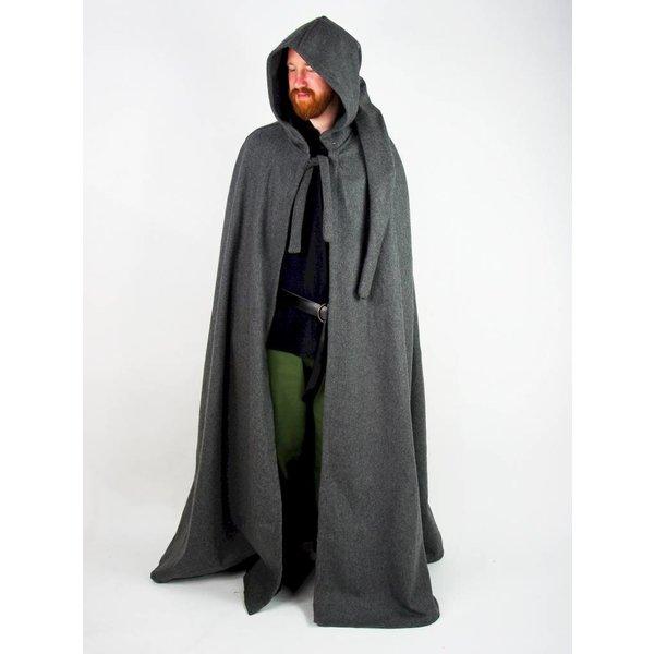 Mantello medievale con cappuccio, rosso