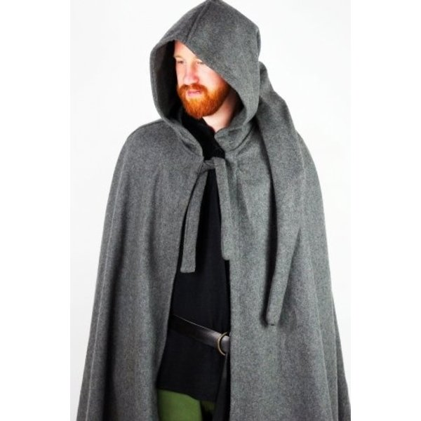 Medieval cloak with hood, red
