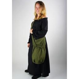 Textile shoulder bag, green